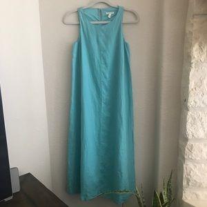Eileen Fisher Aqua Long Maxi Tank Dress XXS